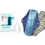 eco friendly menstrual cup and cloth pads