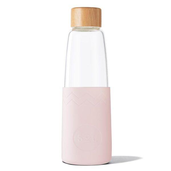 glass reusable water bottle