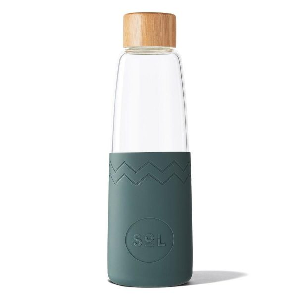 reusable water glass bottle