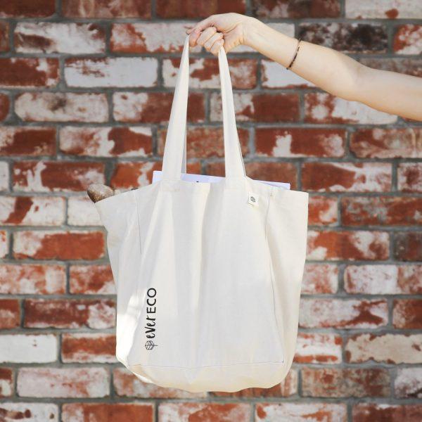 reusable white eco bag