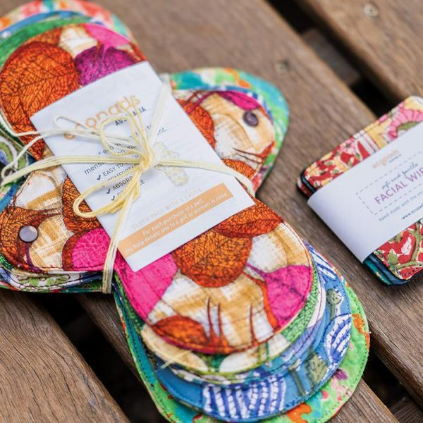 Colorful reusable cloth pads