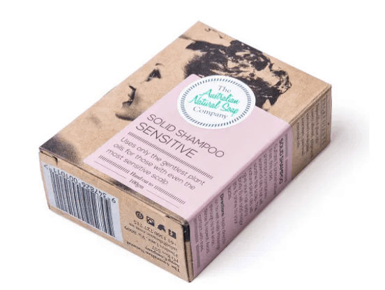 eco friendly solid shampoo bar for sensitive skin by The ANSC