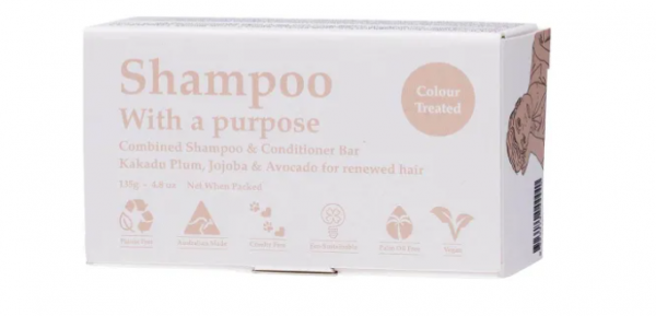 environmentally sustainable shampoo conditioner bar for colour treated hair