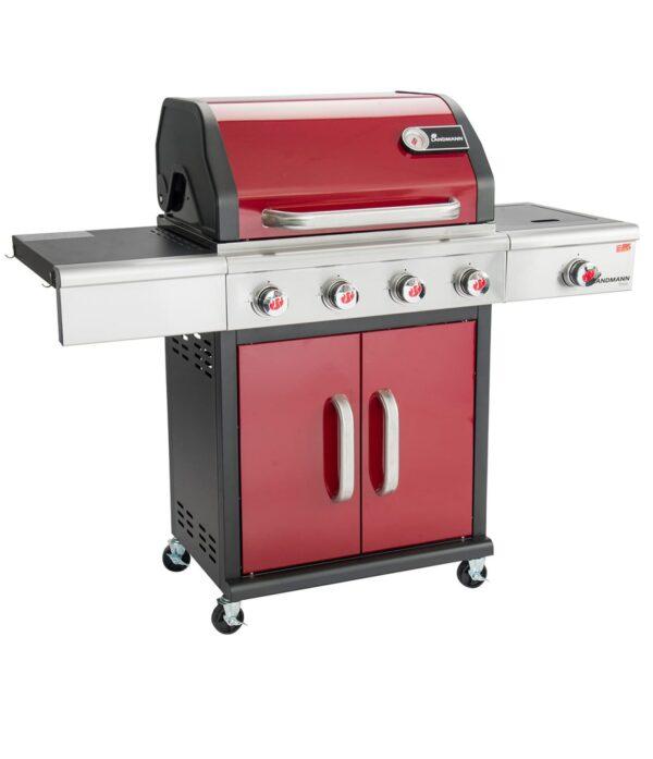 Barbecue In All   Triton PTS 4.1 Gas Barbecue – Bordeaux Red