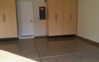 Garage Floor & Storage Cabinets