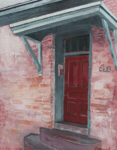 "Historic Door #14 acrylic 14"" x 11"" SOLD"
