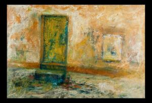 "Historic Doors No. 5 oil on paper 23"" x 30.5"" (framed) SOLD"