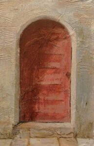 "Historic Doors no. 11 acrylic on paper 8""x 10"" SOLD"