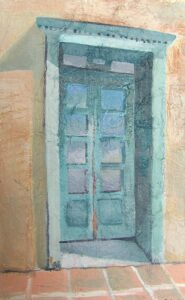 "Historic Doors no. 13 acrylic on paper 8"" x 10"" SOLD"