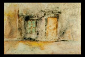 "Historic Doors no. 4 Historic Doors no. 4acrylic, charcoal on paper 23"" x 30.5"" (framed) SOLD"