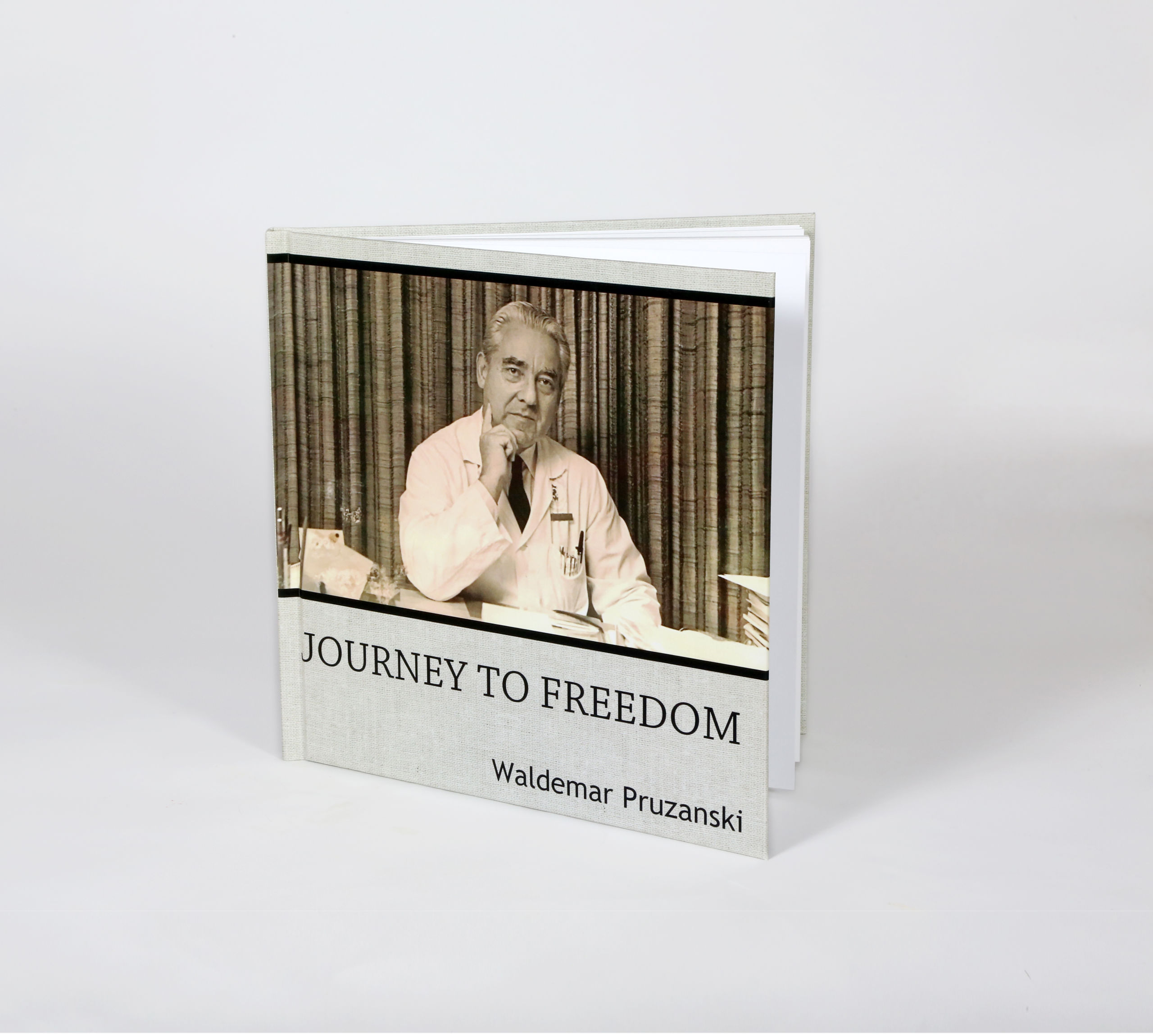 Coffee table legacy book entitled Journey to Freedom