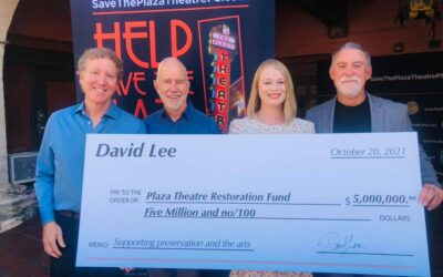 Historic Plaza Theatre in Downtown Palm Springs Receives Significant Donation in Support of Preservation and the Arts