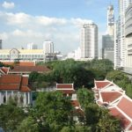 New buildings with the classic Thai roofs!