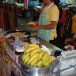 We had some banana pancake - sweet!
