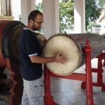 Karthik had fun with the long drum
