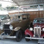 Some old cars parked at a Gem factory we checked out