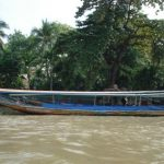 A long tailed boat... used mostly by locals