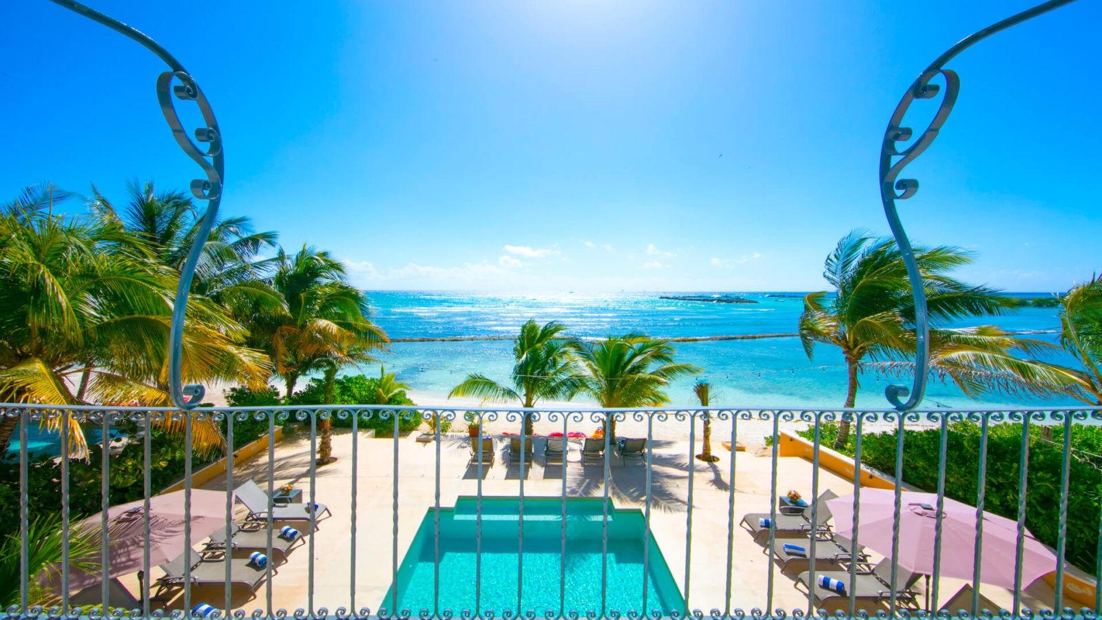 Rivera Maya private villa 1-balconey view