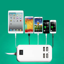 15w 4 port usb desktop charger