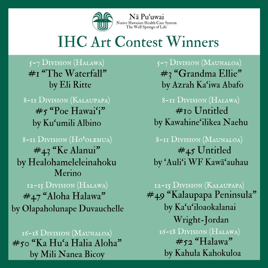 _IHC Art Contest Winners