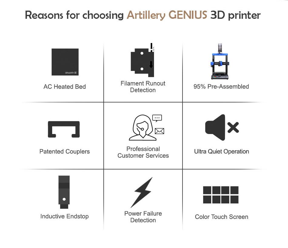 Reasons for choosing and Artillery Genius 3D Printer