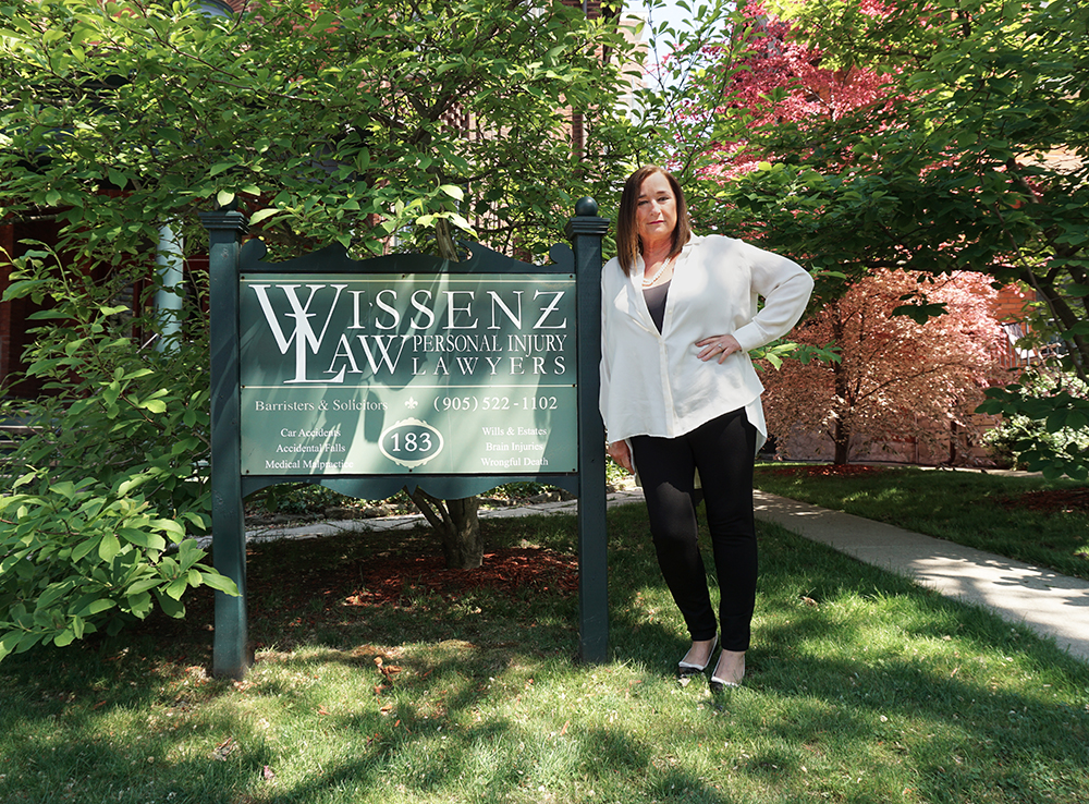 Rebecca in front of Wissenz Law
