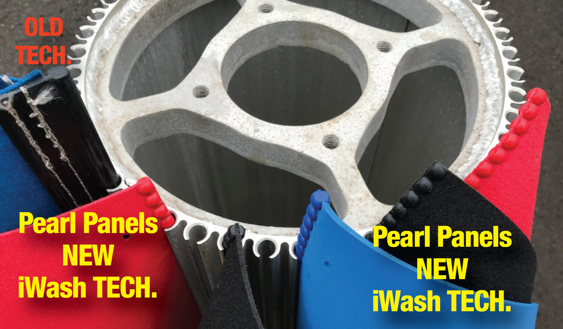 Example of new iWash products vs the traditional technology.