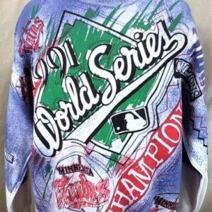New! Vintage 1991 Minnesota Twins (Large) World Series Champions Crew Neck Sweatshirt (Front)