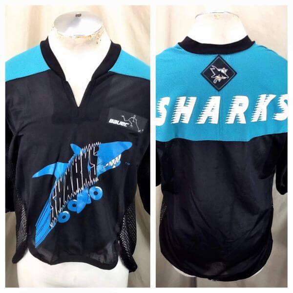San Jose Sharks Roller Hockey (Large) Vintage NHL Bauer Off Ice Hockey Jersey (Main)