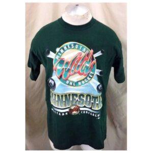 Vintage 2000's Minnesota Wild (Large) Retro Graphic NHL Hockey T-Shirt (Main)