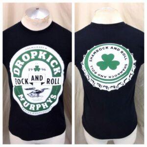 Dropkick Murphys Sham Rock & Roll (Small) Retro Punk Rock Black Concert T-Shirt (Main)
