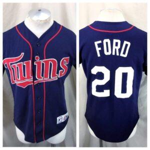 Majestic Minnesota Twins Lew Ford #20 (Small) MLB Stitched Baseball Jersey (Main)