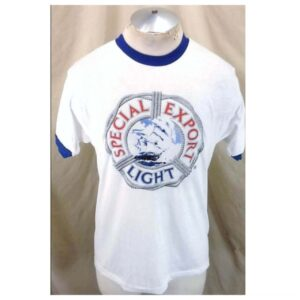 Vintage 1980's Sneakers Special Export Light (Med-Large) Ultra Thin Retro Beer T-Shirt (Main)