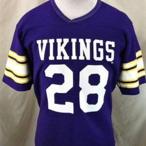 Vintage 80's Rawlings Ahmad Rashad #28 (Med) Minnesota Vikings Football Jersey (Front)