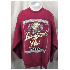 Vintage 90's Leinenkugel's Red Lager (2XL) Retro Leine's Brewing Company Crew Neck Sweatshirt (Main)