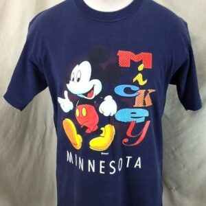 Vintage 90's Mickey Mouse Minnesota (Large) Disney Tourism Graphic T-Shirt (Front)
