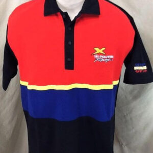 Vintage 90's Polaris Racing Genuine Race Gear (Large) Gear Heads Embroidered Polo Shirt (Front)