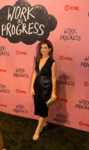 Karin Anglin Showtime Red Carpet Premiere of Work In Progress