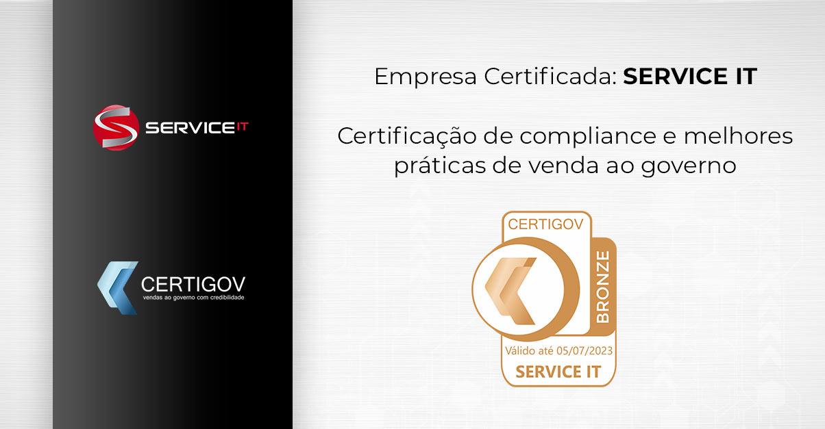 SERVICE IT conquista certificação CertiGov