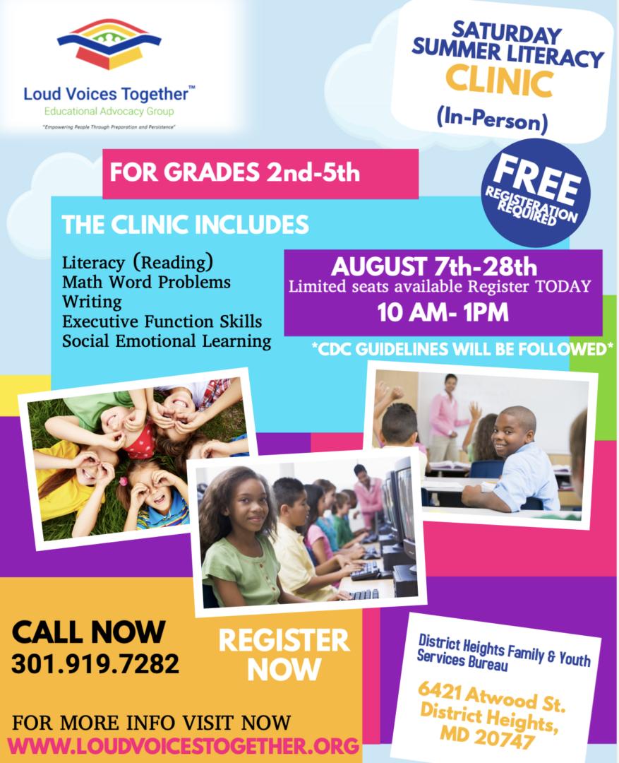 Summer Literacy clinic FINAL