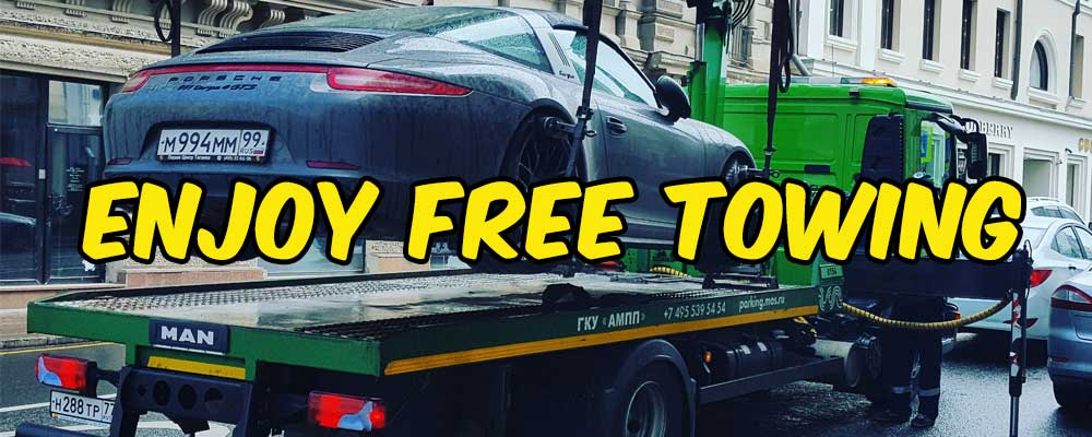 we offer free towing