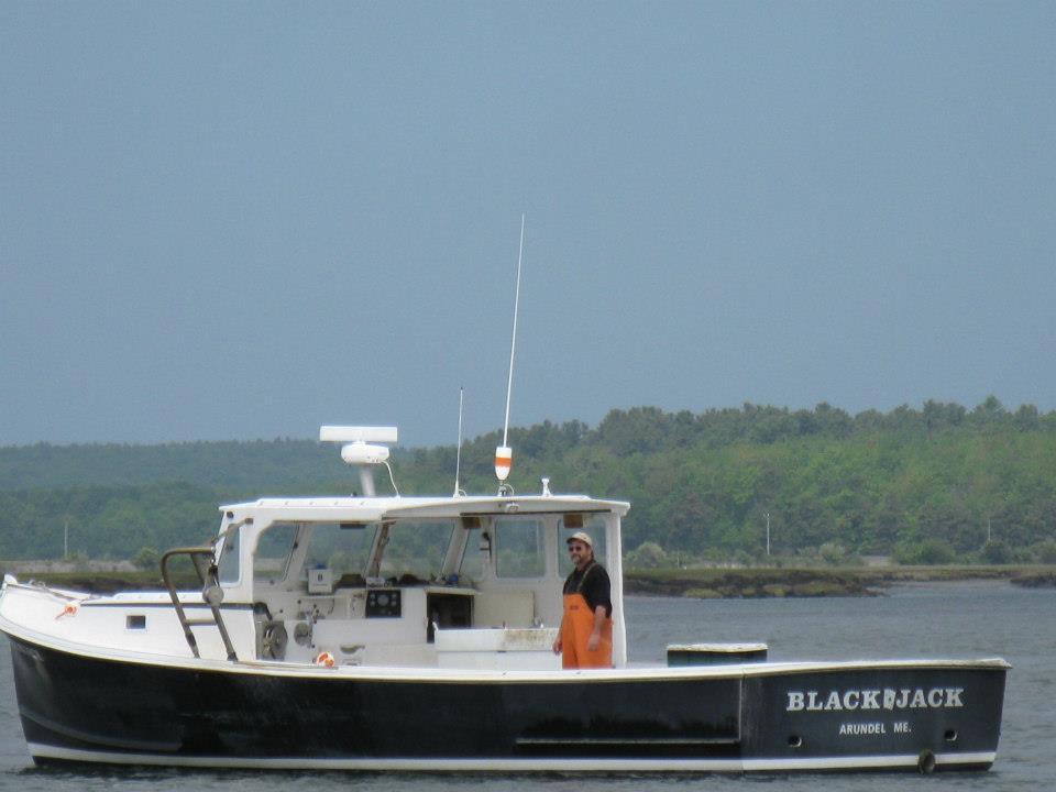 Wayne on his lobster boat the Black Jack