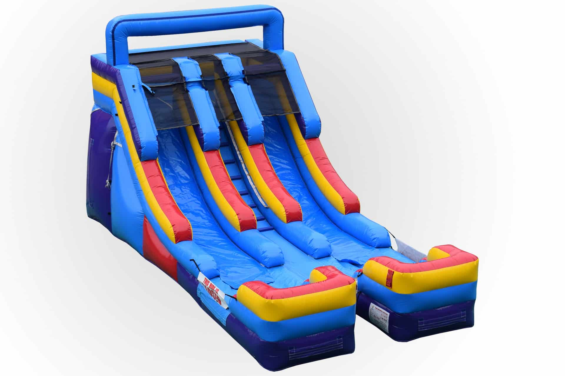 15 Foot Dual Lane Slide Retro