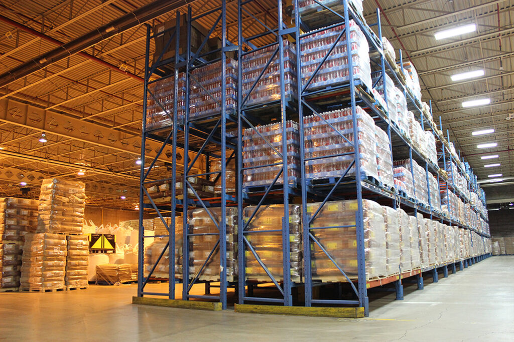 Double deep pallet racking system in UAE