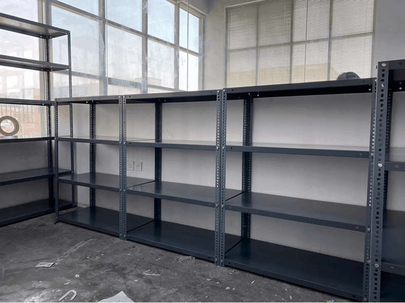 Slotted angel shelving supplier in UAE