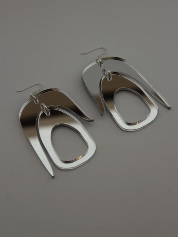 steve warren scott mirror earrings
