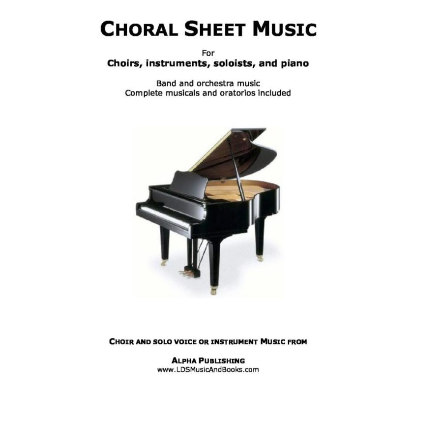 Abide free lds choir sheet music hymn arrangements