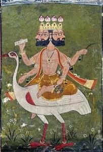 Image of Brahma on a Swan