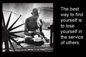 Image of Gandhi Spinning