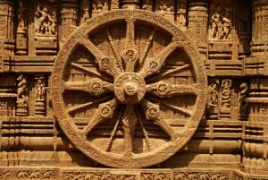 Image of Wheel of Dharma from Konark